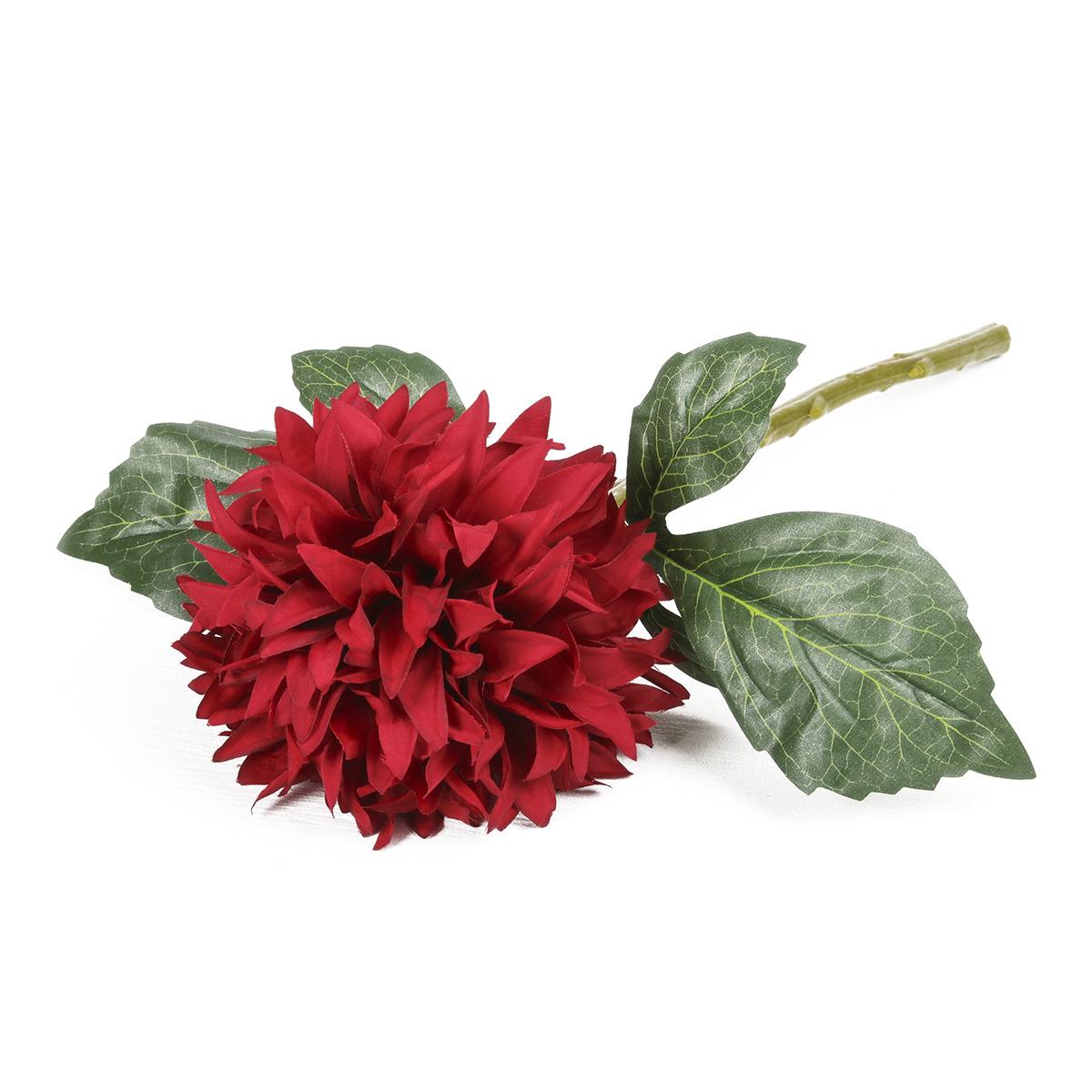 Искусственные цветы Георгин люкс, 3544325, бордовый, 30 см