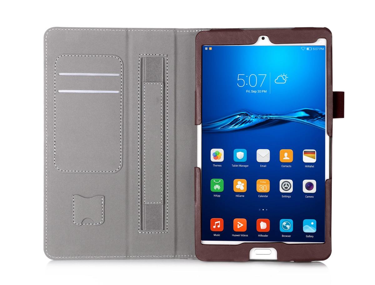 Для Huawei Mediapad M3 8,4-дюймовый кожаный чехол для флип-флип-стойки с футляром с эластичным ремешком и держателем для ручек