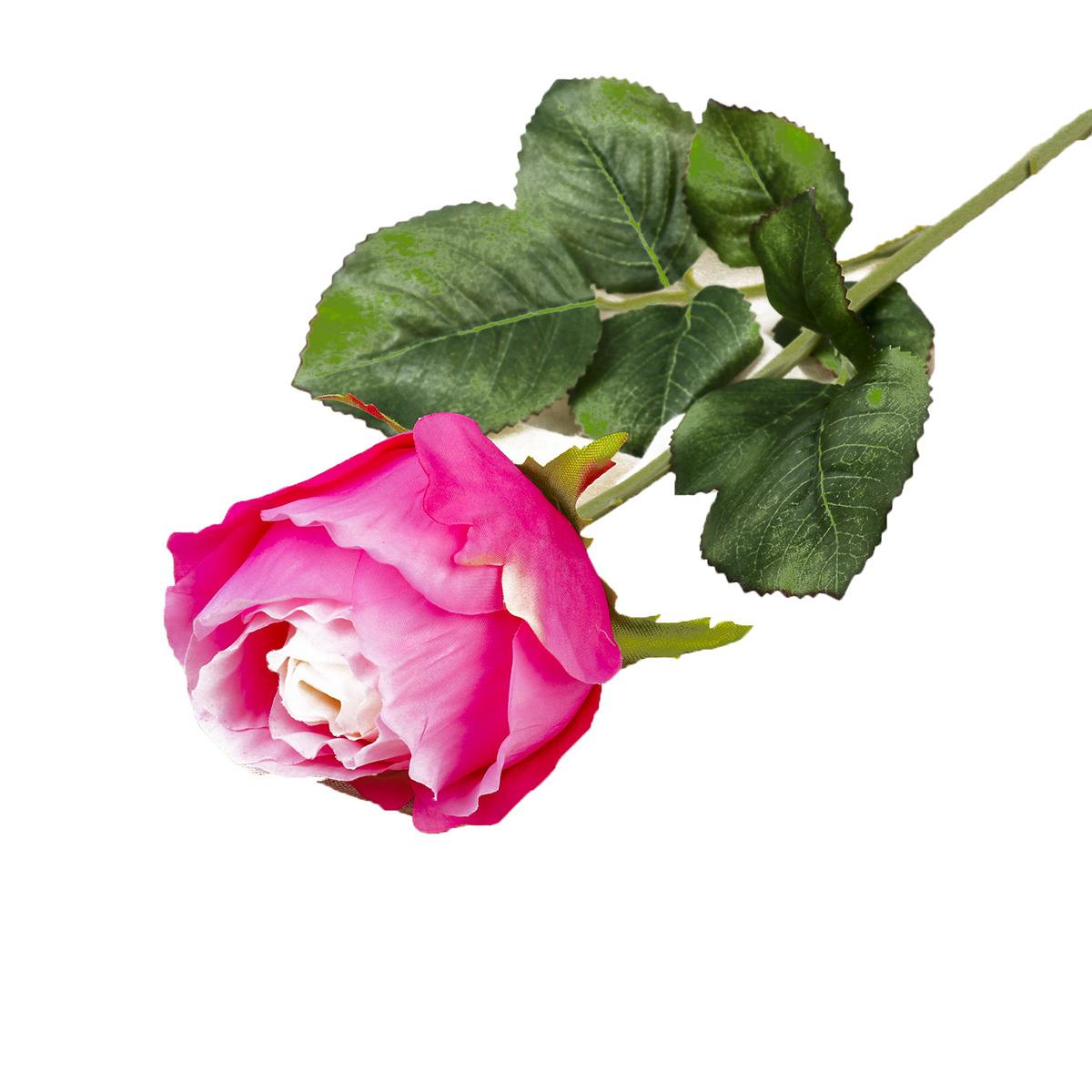 Искусственные цветы Роза амбра, 3797127, розовый, 51 см