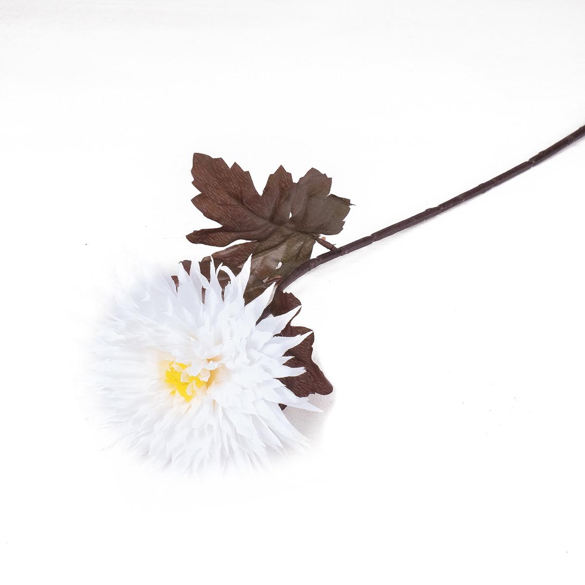 Искусственные цветы Астра, 764885, белый, 60 см