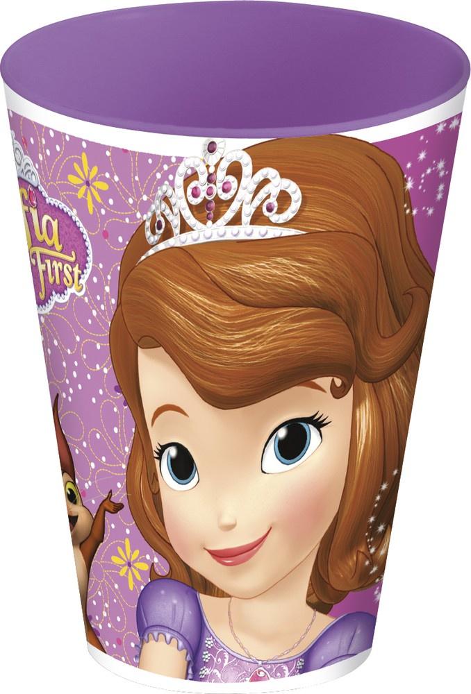 Стакан пластиковый Stor (430 мл). Принцесса София фиолет., арт.82306 стакан stor принцесса софия с соломинкой и крышкой 82330 фиолетовый 430 мл