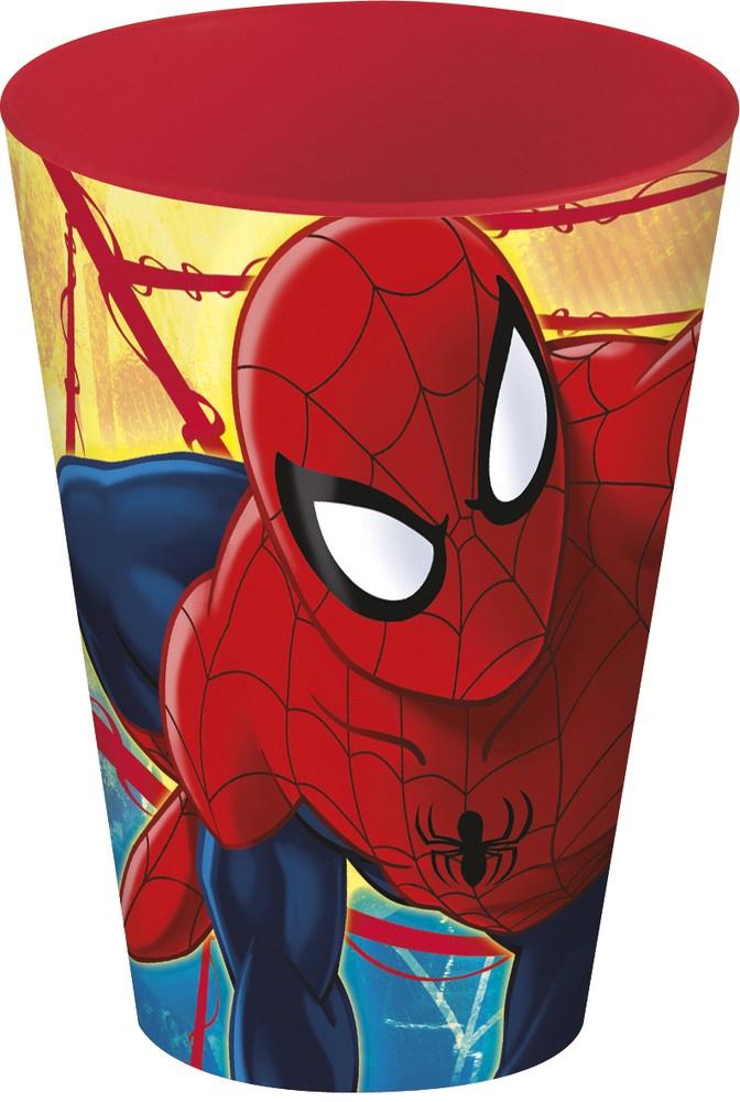 Стакан пластиковый Stor (430 мл). Человек-паук Красная паутина, арт.33406 стакан stor человек паук красная паутина с соломинкой и крышкой 33430 красный 430 мл