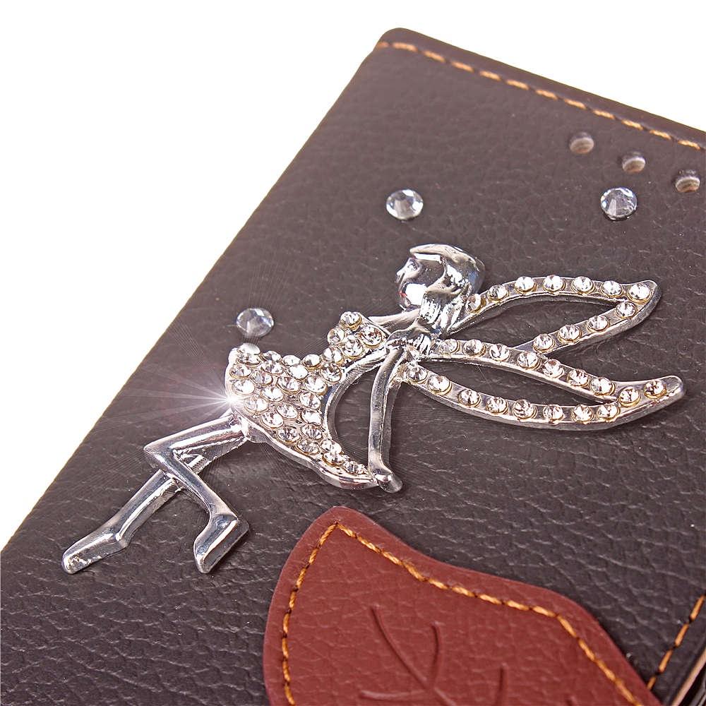 Fairy Diamante кожаный чехол для телефона Anti-scratch защитный чехол для мобильного телефона для Huawei Y9 2018 Наслаждайтесь 8 Plus Brown (1798)