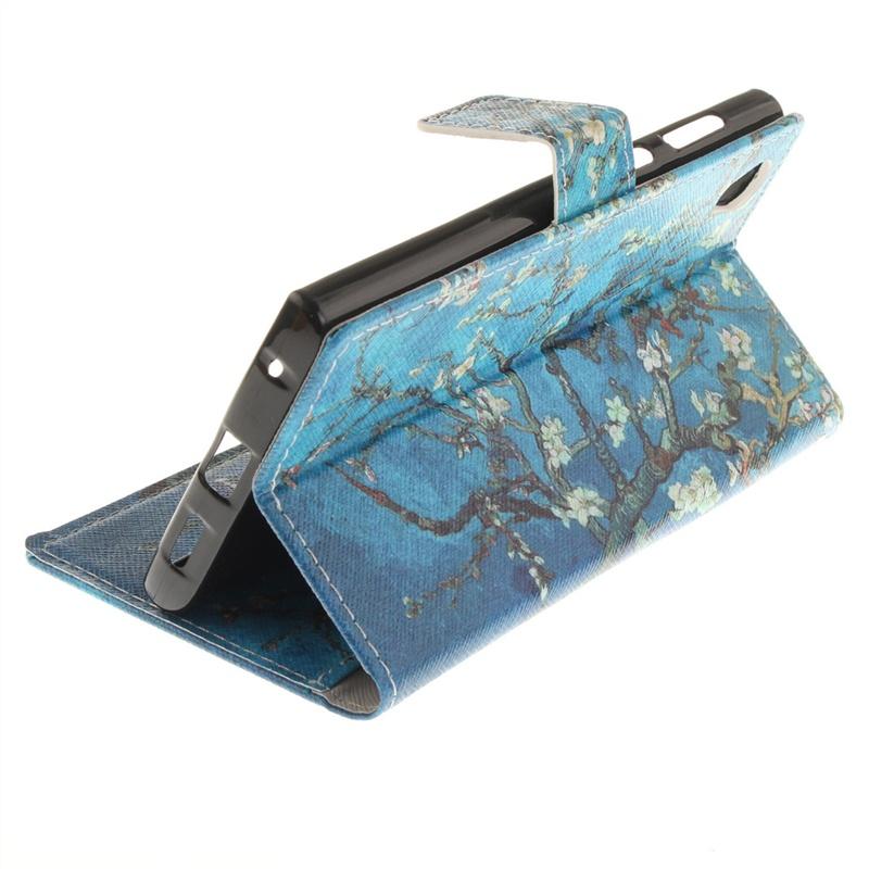 Moonmini для Sony Xperia L1 Кожаный чехол из полипропиленового футляра для картона с магнитным закрытием (цвет абрикоса)