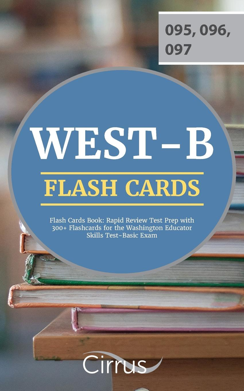 Cirrus Teacher Certification Exam Team WEST-B Flash Cards Book. Rapid Review Test Prep with 300+ Flashcards for the Washington Educator Skills Test-Basic Exam waterproof wooden cirrus pattern wall hanging tapestry