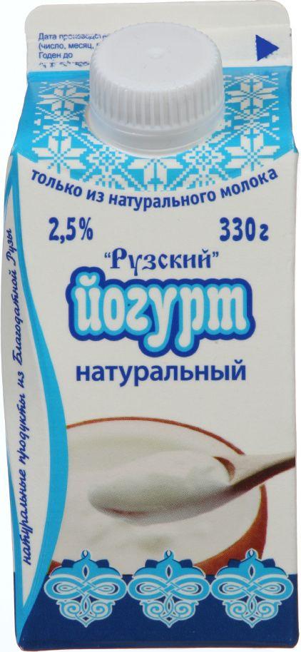 Йогурт питьевой Рузское молоко, 2,5%, 330 г