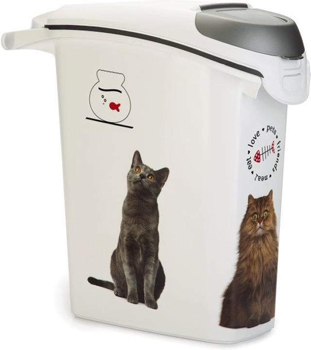 """Контейнер Curver """"Petlife. Кошачьи цап-царапки"""", для хранения сухого корма, 23 л"""