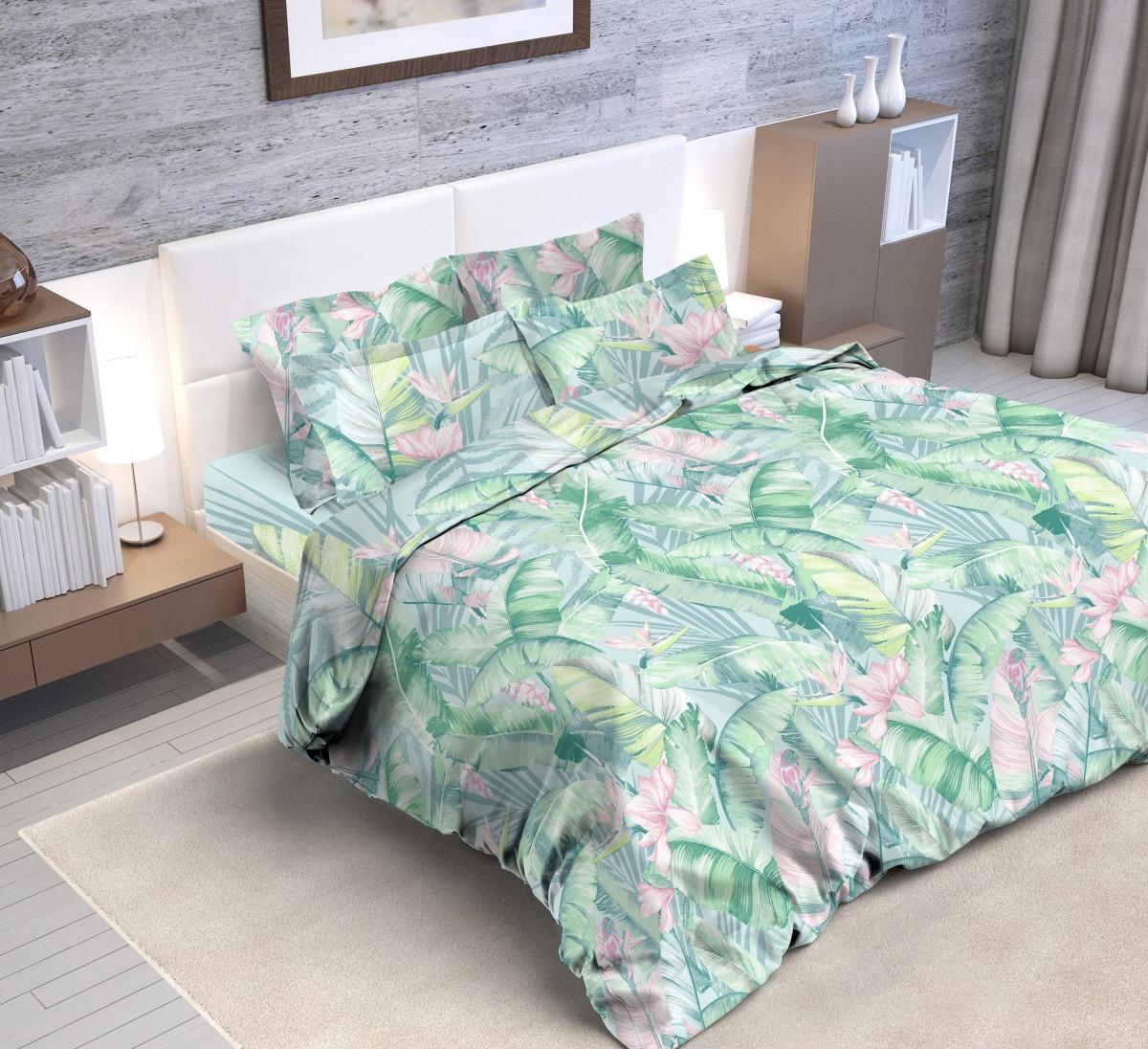 Комплект постельного белья Butterfly Поплин евро, 2 нав 70*70, прост 220*240, подод 200*220 (ПК3) рис. 9115/1 falcon