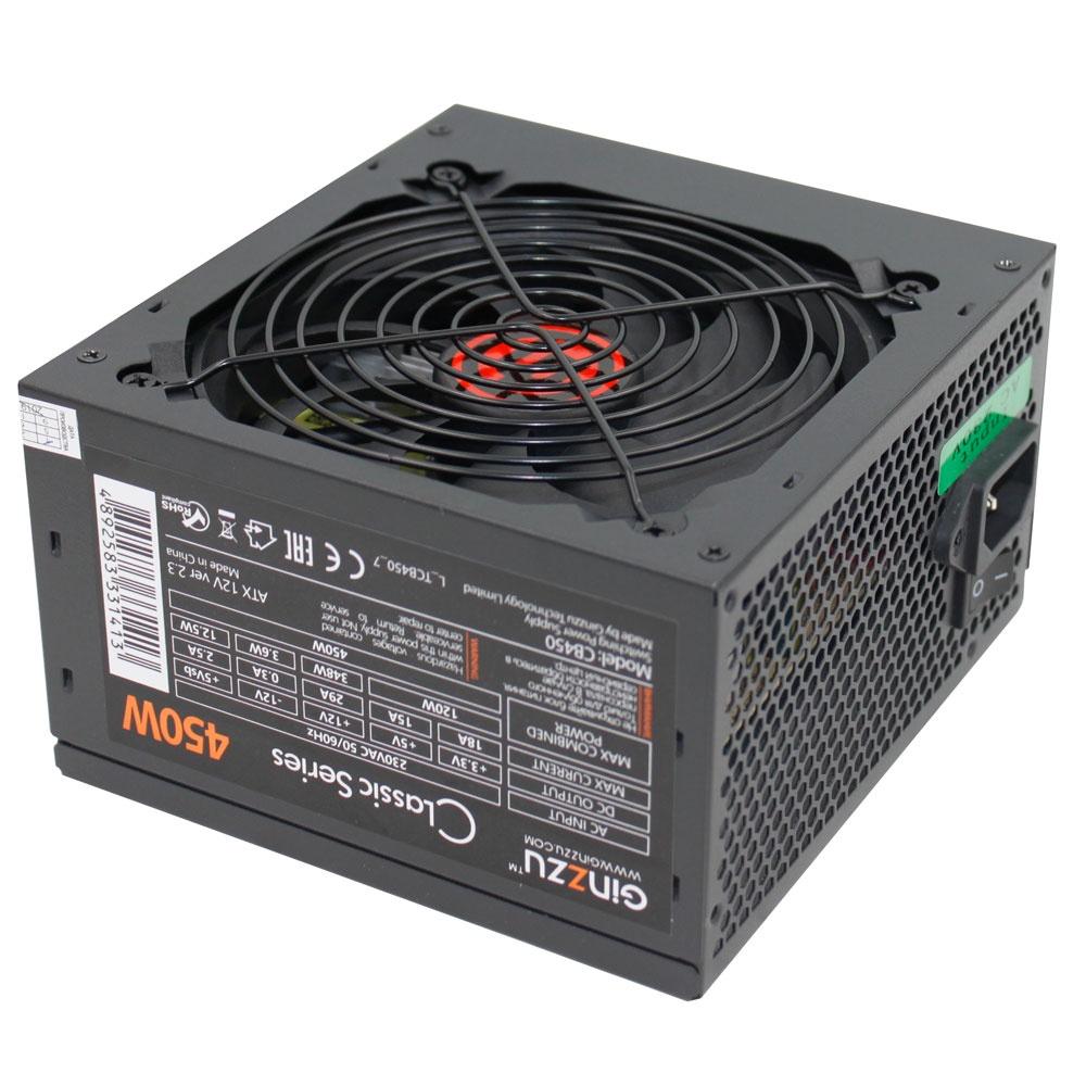 Блок питания Ginzzu CB450 12CM блок питания gigabyte atx 450w gz ebs45n c3 3 sata i o switch