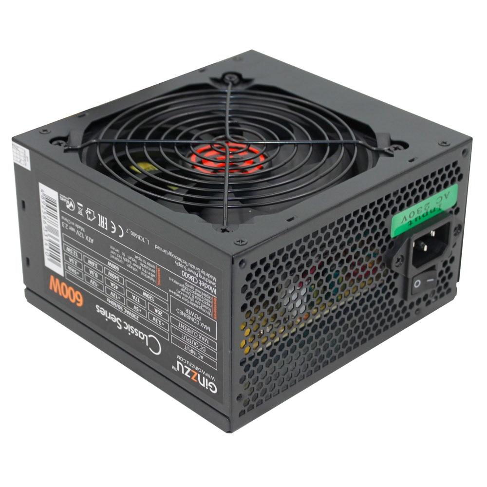 Блок питания Ginzzu CB600 12CM блок питания для камер видеонаблюдения ginzzu для питания 2 4 камер 12v 2 0a