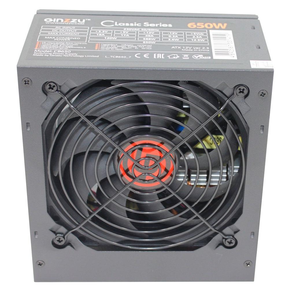 Блок питания Ginzzu CB650 12CM блок питания для камер видеонаблюдения ginzzu для питания 2 4 камер 12v 2 0a
