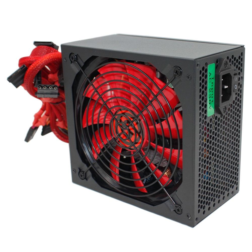 Блок питания Ginzzu PC500 14CM 80+ ds 14cm red page 2