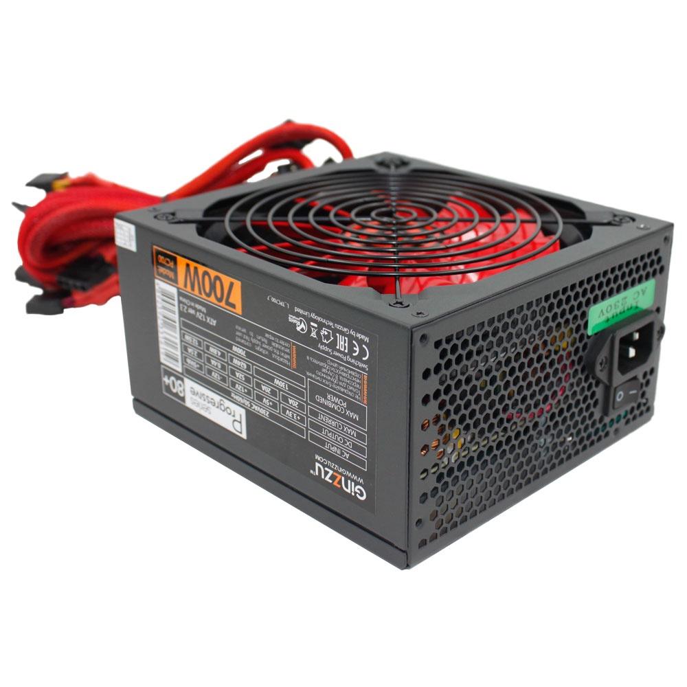 Блок питания Ginzzu PC700 14CM 80+ блок питания для камер видеонаблюдения ginzzu для питания 2 4 камер 12v 2 0a