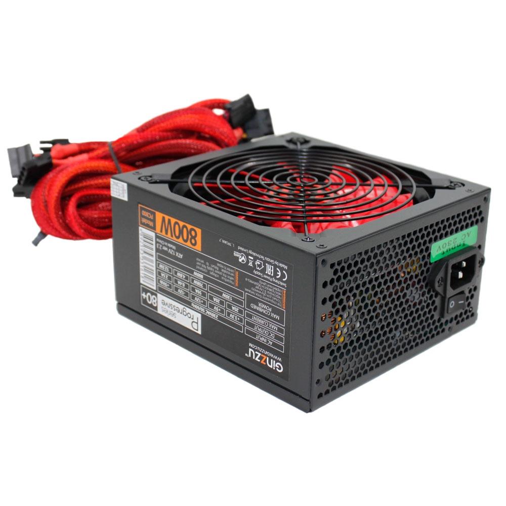 Блок питания Ginzzu PC800 14CM 80+ ds 14cm red page 2