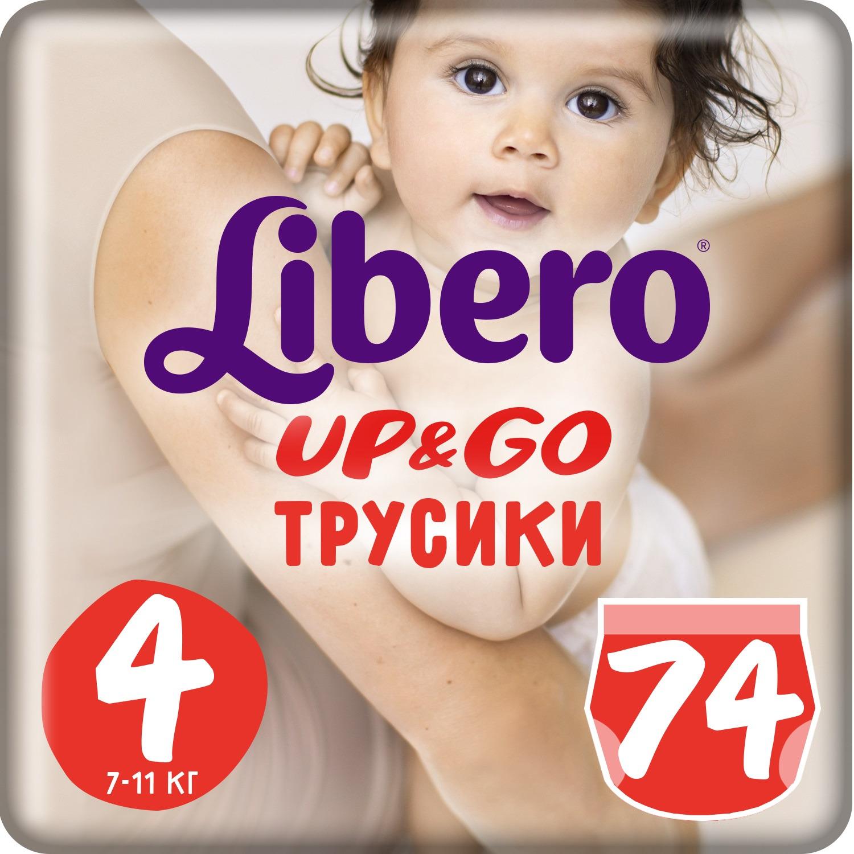 Трусики Libero Up&Go Size 4 (7-11 кг), 74 шт