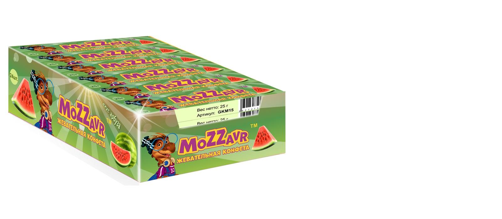 Жевательная конфета Mozzavr,со вкусом арбуза ежедневник коты арбузное удовольствие