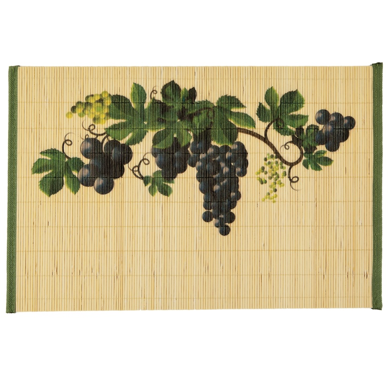 Набор индивидуальных бамбуковых салфеток Лоза-4 шт., 30х45см