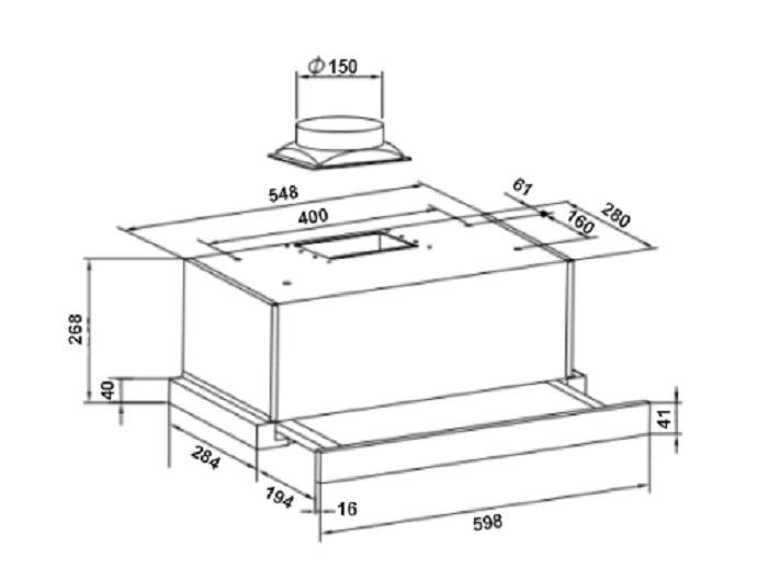 Вытяжка кухонная GRAND Toledo sensor (60см, черный) . ...