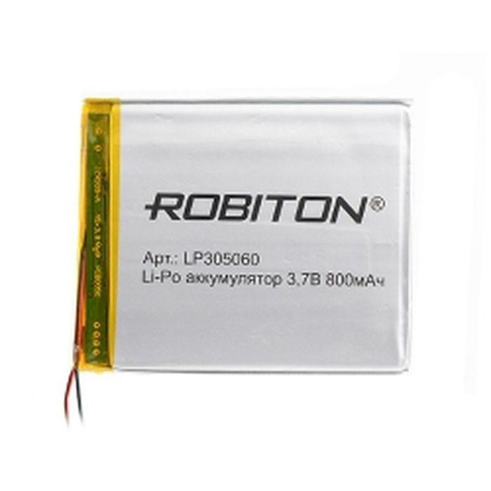 Батарейка Robiton LP305060 3. 7В 800mAh PK1, 14071 Robiton