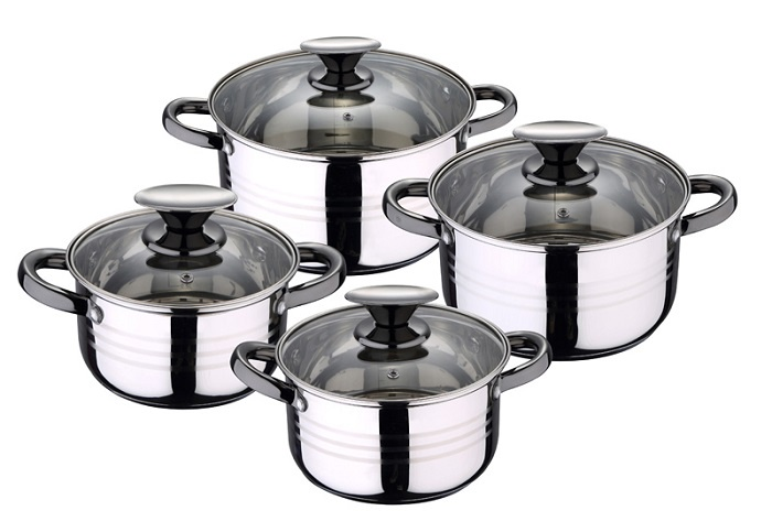 Набор посуды для приготовления RENBERG Набор кастрюль, 8 предметов 1,9; 2,7; 3,6; 6,1 л