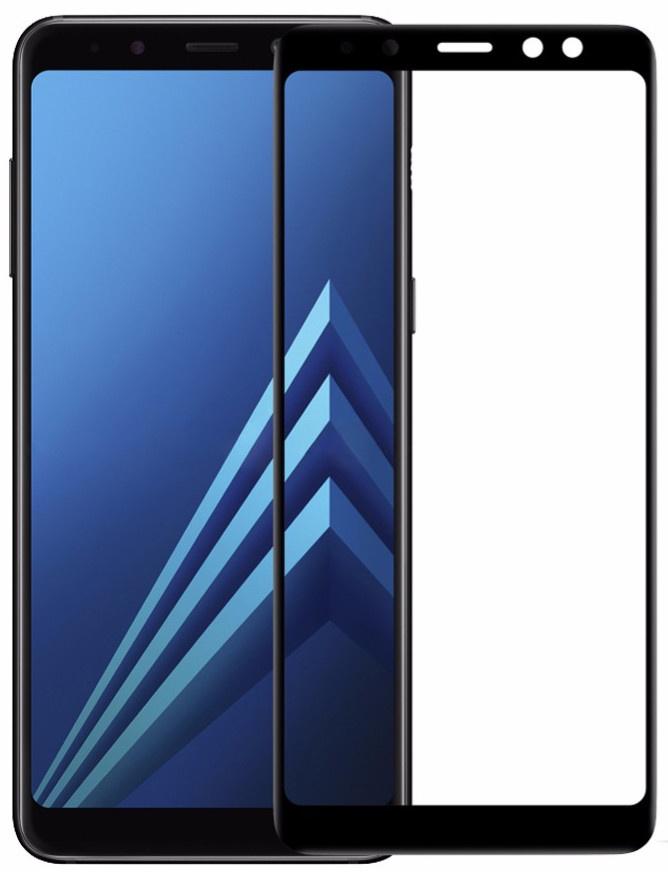 Защитное стекло Grand Full Glue для Samsung Galaxy A8 2018, черный