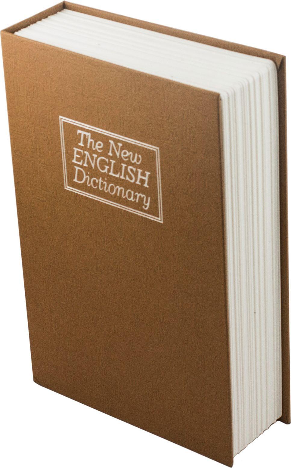 Книга-сейф Эврика Английский словарь, цвет: коричневый, 26,5 х 20 х 7 см ключ эврика er 20632