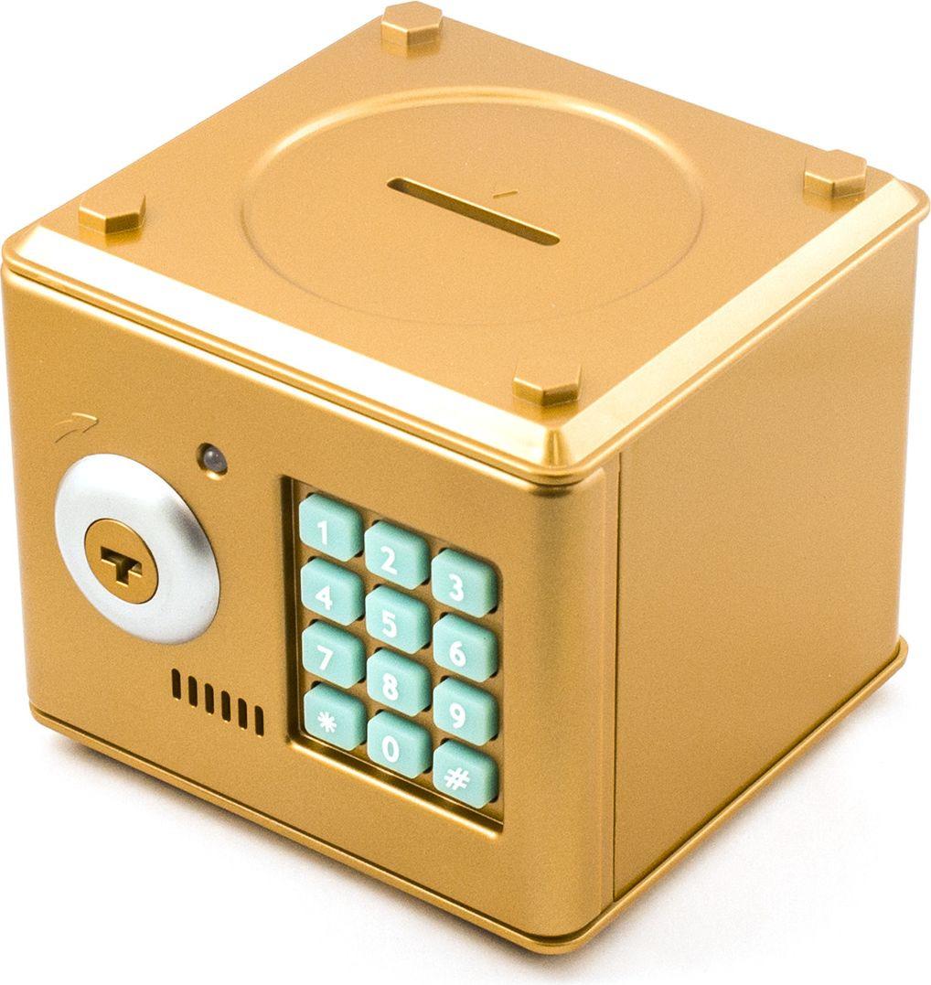Копилка-сейф Эврика, цвет: золотистый. 94928 samsung пароль телефона