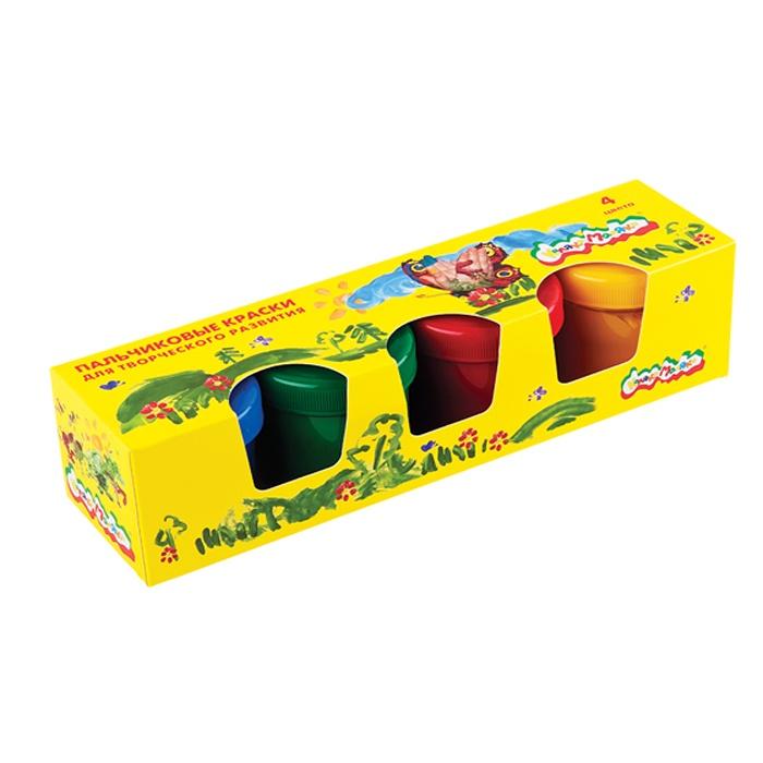 цена на Краски пальчиковые Каляка-Маляка 110 мл, 4 цвета