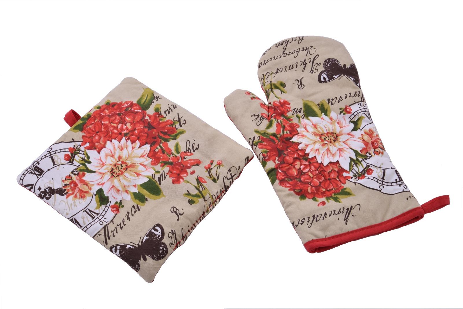 рукавицы прихватки фартуки романтика прихватка рукавичка лимонный сад Набор прихваток 2шт.