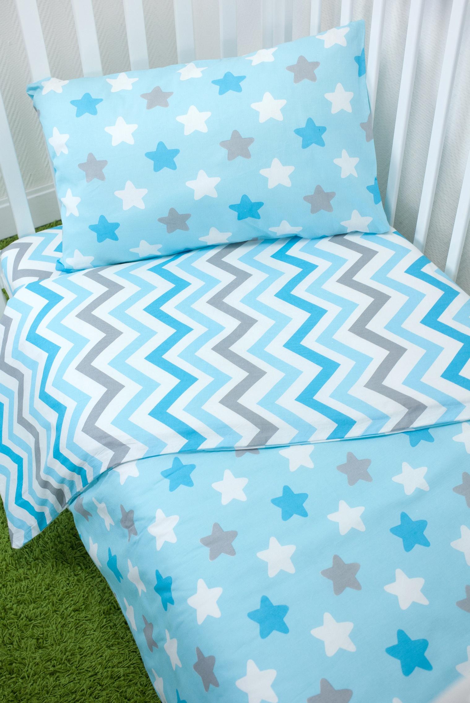 Комплект постельного белья для малышей Magic City Бирюзовое созвездие комплект постельного белья облачко дельфин в детскую кроватку с простынью на резинке 186903