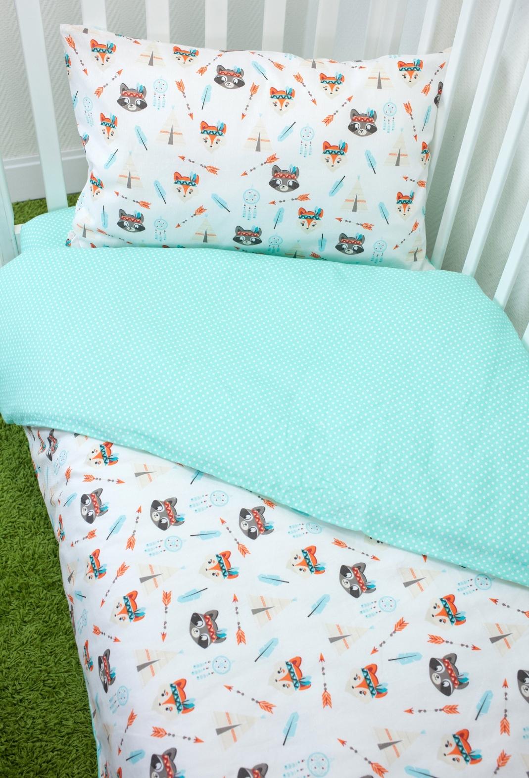 Комплект постельного белья для малышей Magic City Индейцы комплект постельного белья облачко дельфин в детскую кроватку с простынью на резинке 186903