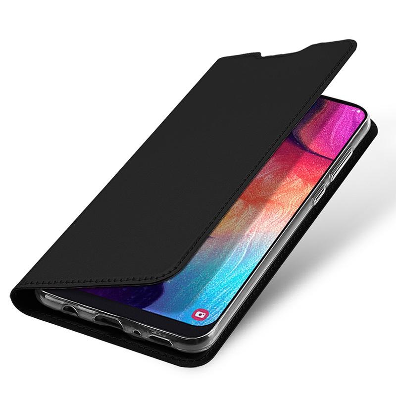 Чехол для сотового телефона MyPads для Samsung Galaxy A50 водоотталкивающий с мульти-подставкой на жёсткой металлической основе черный (7468)