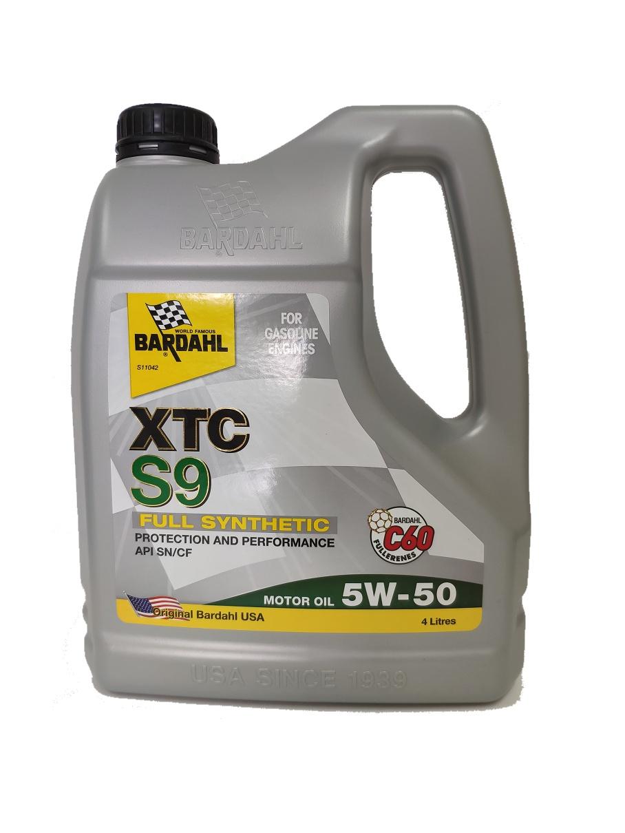 Масло моторное SAE 5W-50 (XTC S9) API SN/CF, ACEA A3/B4-08, ACEA C3-08 (100% синтетическое) с содержанием Polar Plus и Fullerene C60 4л