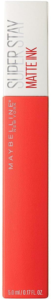 Помада для губ жидкая Maybelline New York Super Stay Matte Ink, матовая, оттенок 25, Герой, 5 мл
