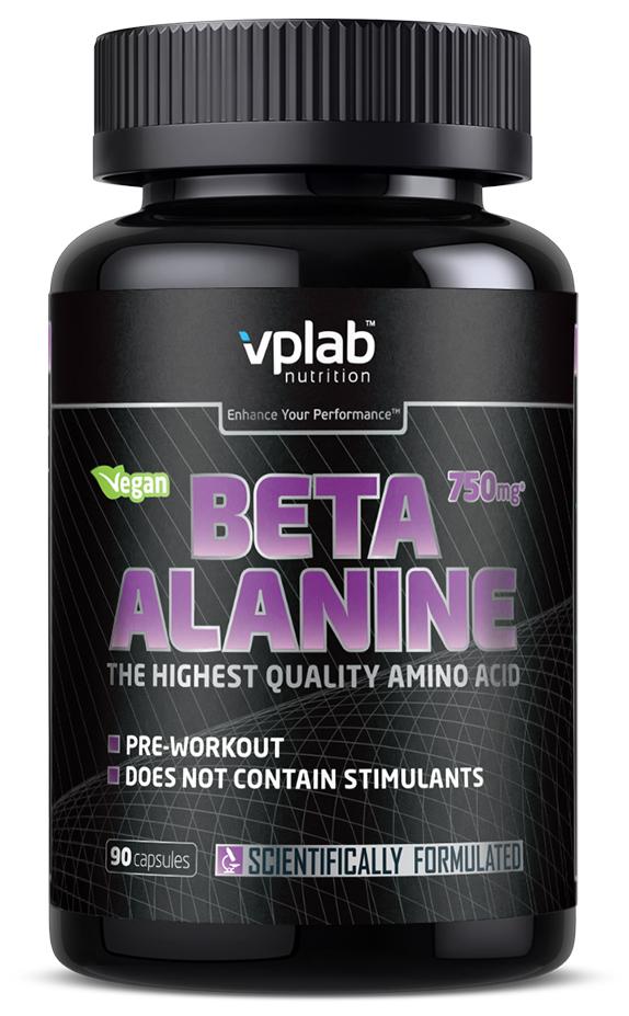 Бета-аланин VPLAB Nutrition Beta-alanine, 90 капсул добавка пищевая nature s bounty нэйчес баунти натуральная эхинацея 400 мг 100 капсул
