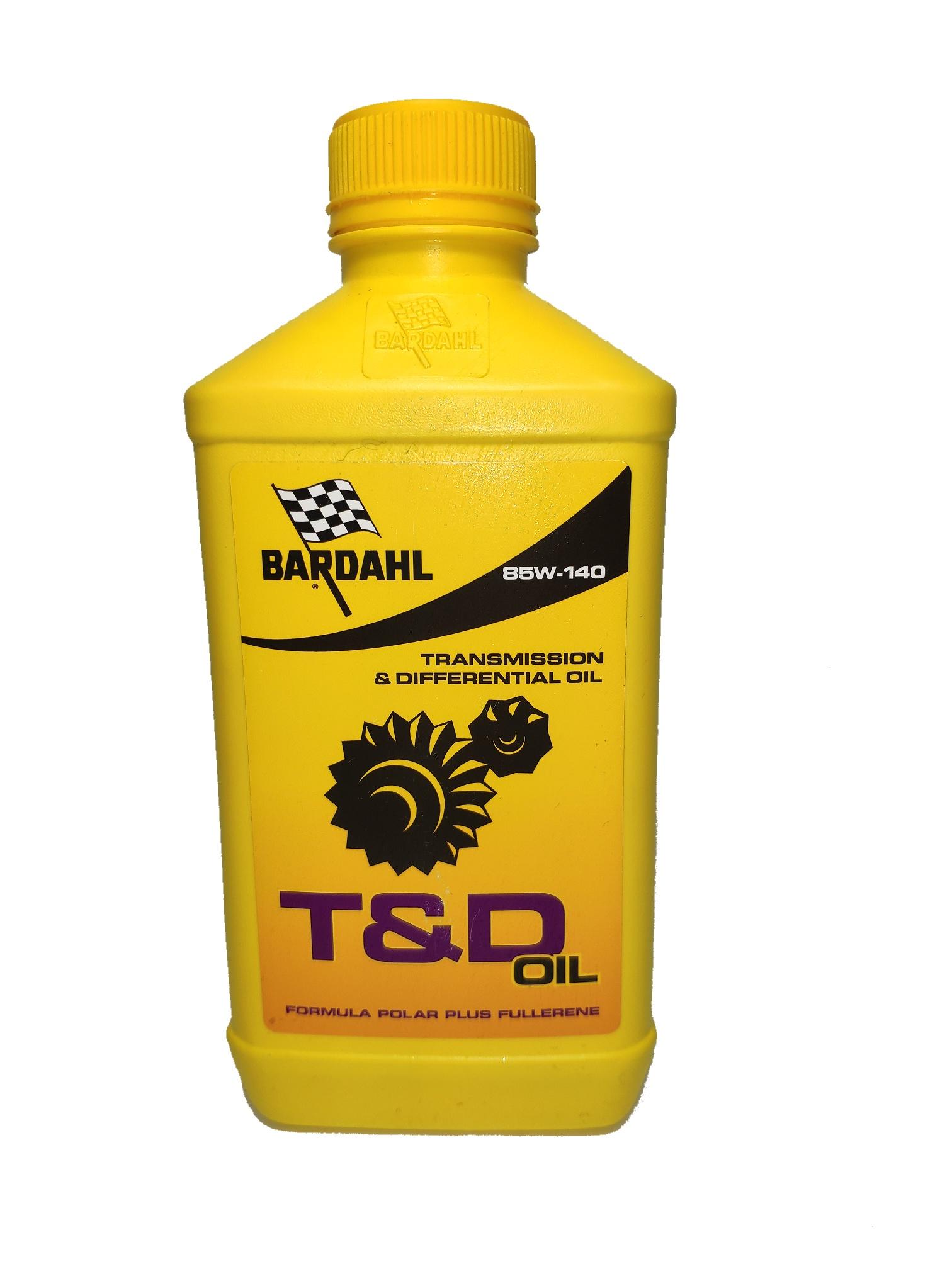 Трансмиссионное масло SAE 85W-140 (T&D) API GL-5/GL-4  для дифференциалов  и механических коробок передач, 1л