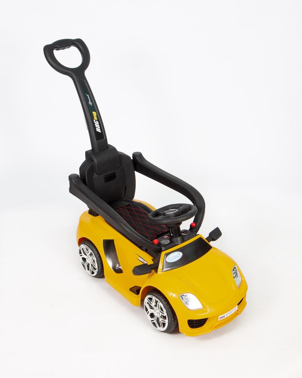 все цены на Толокар- Электромобиль- Каталка (3 в 1) BARTY Porshe Р918 желтый онлайн