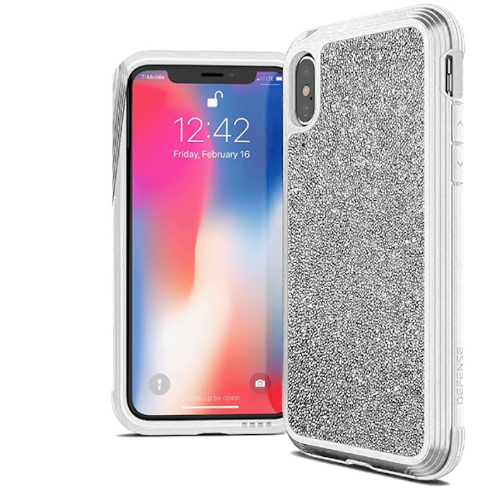 Чехол Defense Lux White Glitter для iPhone Xs / X