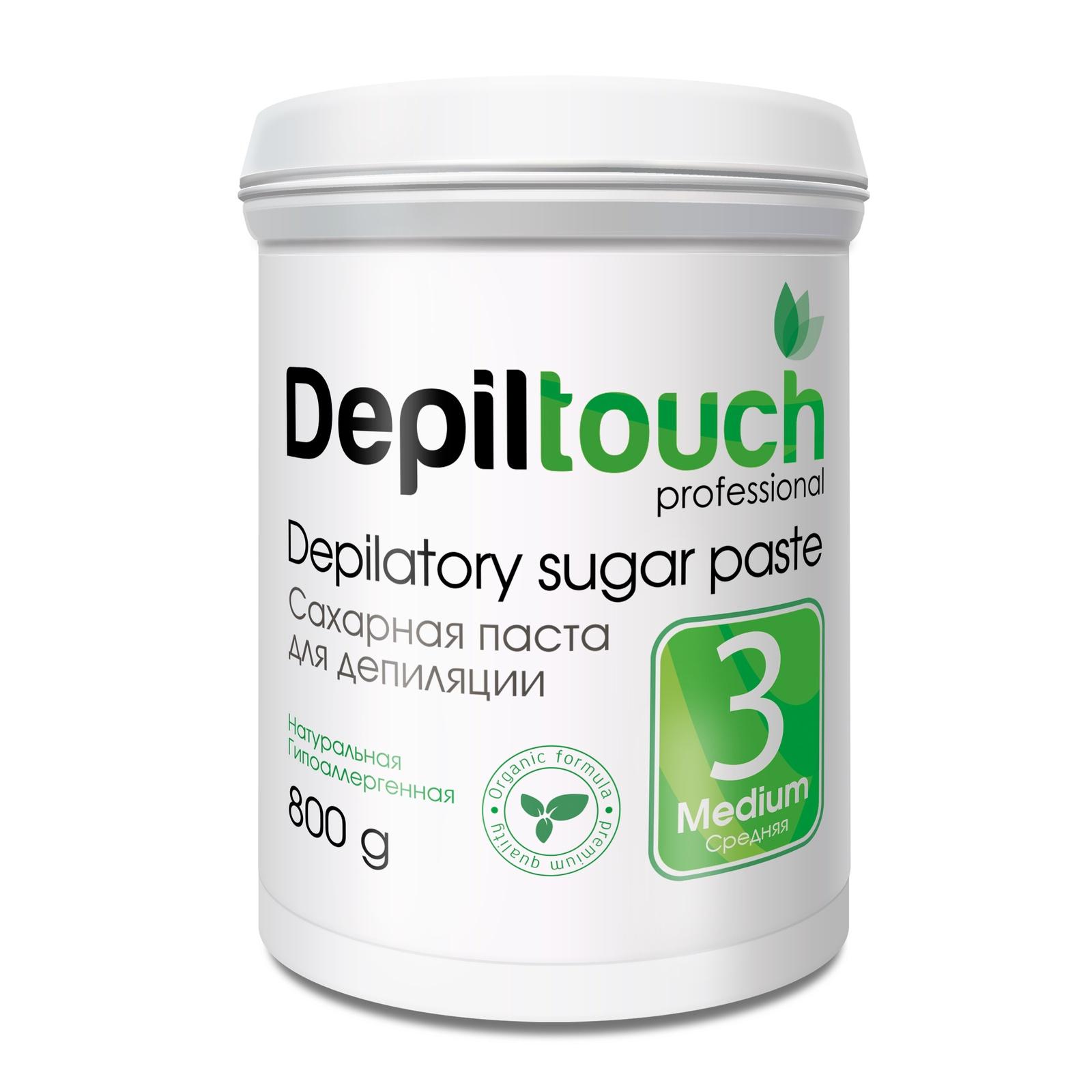 Depiltouch 87709 Сахарная паста для депиляции 3 СРЕДНЯЯ Depiltouch professional 800г сахарная паста для депиляции jessnail отзывы