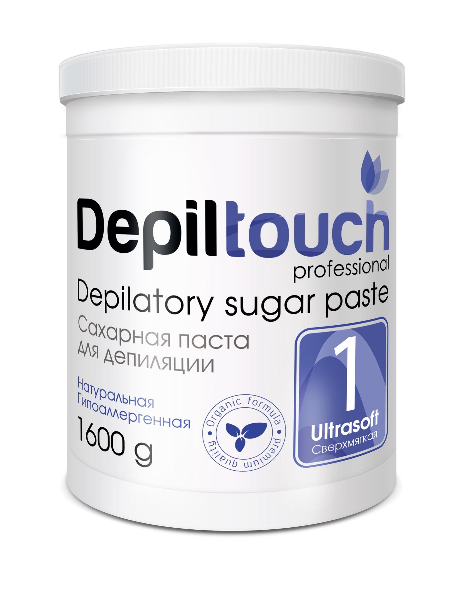 Depiltouch 87713 Сахарная паста для депиляции 1 СВЕРХМЯГКАЯ Depiltouch professional 1600г для депиляции