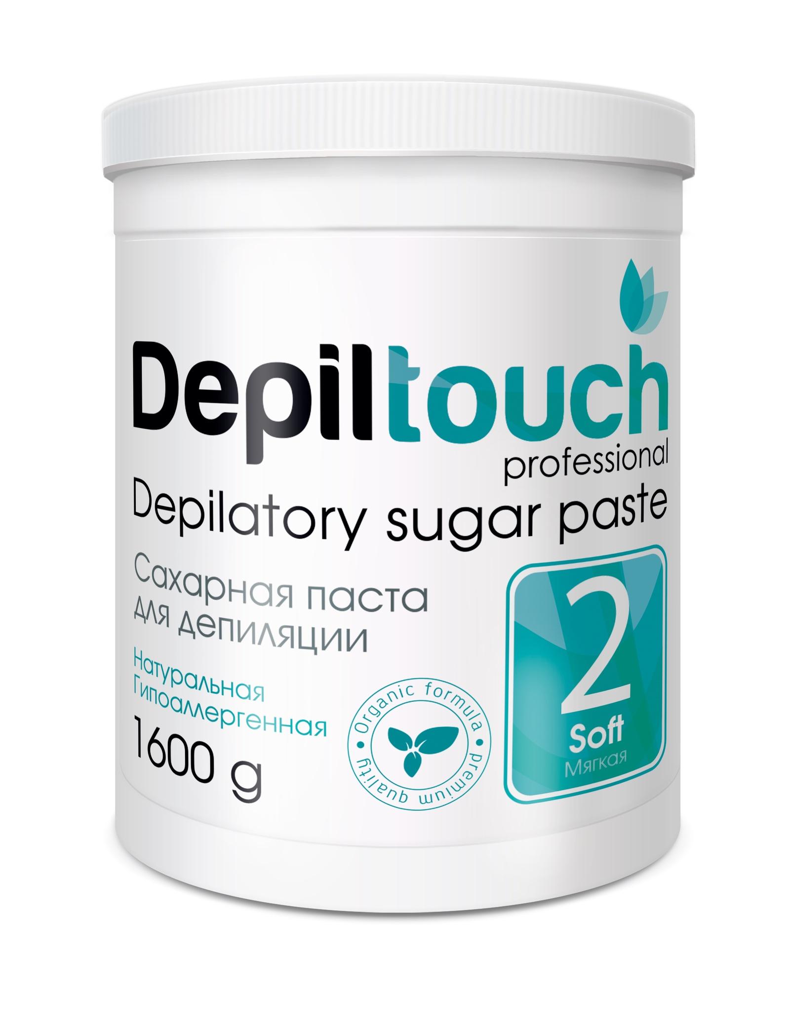 Depiltouch 87714 Сахарная паста для депиляции 2 МЯГКАЯ Depiltouch professional 1600г для депиляции