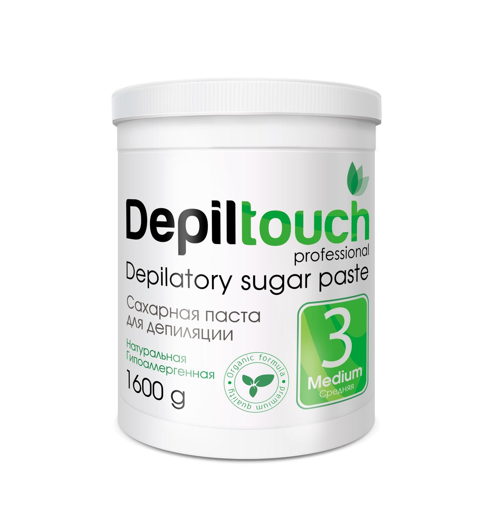 Depiltouch 87715 Сахарная паста для депиляции 3 СРЕДНЯЯ Depiltouch professional 1600г для депиляции