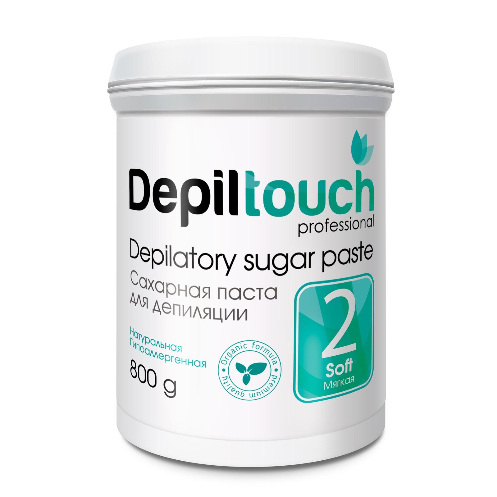 Depiltouch 87708 Сахарная паста для депиляции 2 МЯГКАЯ Depiltouch professional 800г для депиляции
