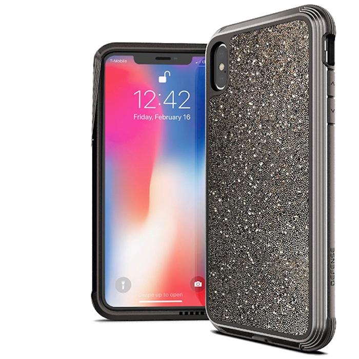 Чехол Defense Lux Dark Glitter для iPhone Xs / X