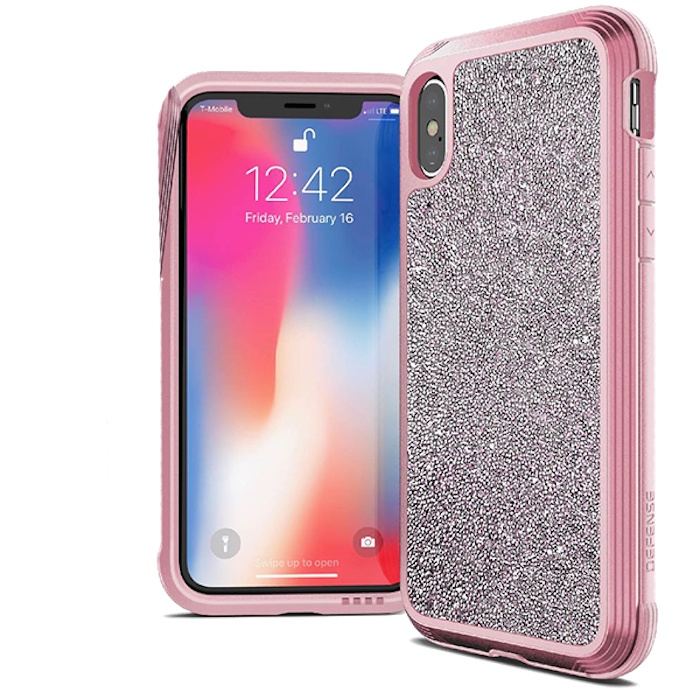 Чехол Defense Lux Pink Glitter для iPhone Xs / X