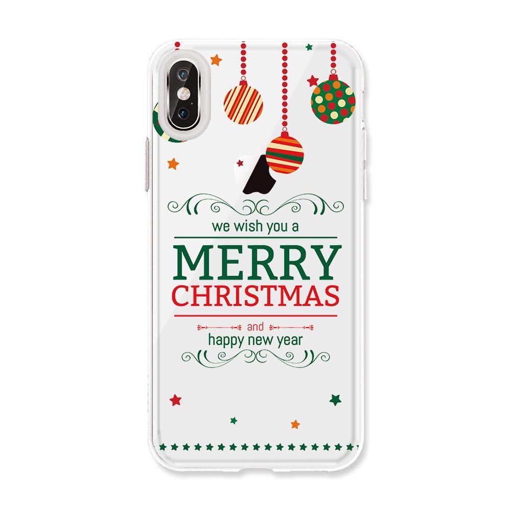 Чехол с новогодним принтом для IPhone 5C 5 5s SE 6 6s 7 Plus 8 X стоимость