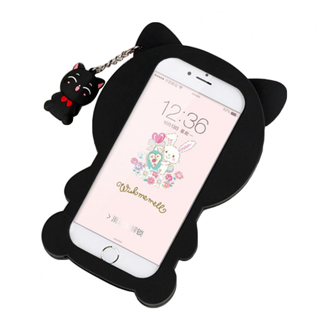 Силиконовый чехол задней крышки корпуса в форме кошки для iPhone 5, SE, 6S, 7 Plus цена и фото