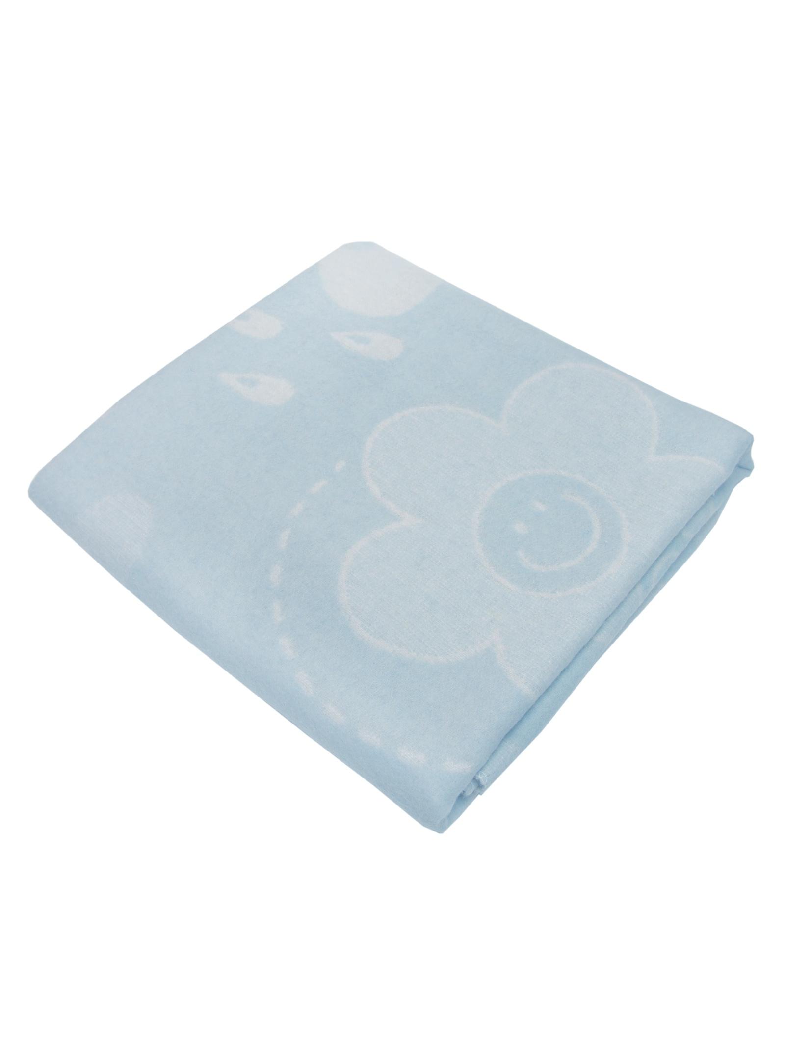 """Одеяло детское """"Смайл"""" Arloni, 27350.СМ.Г, бело-голубой, 100х140 см"""