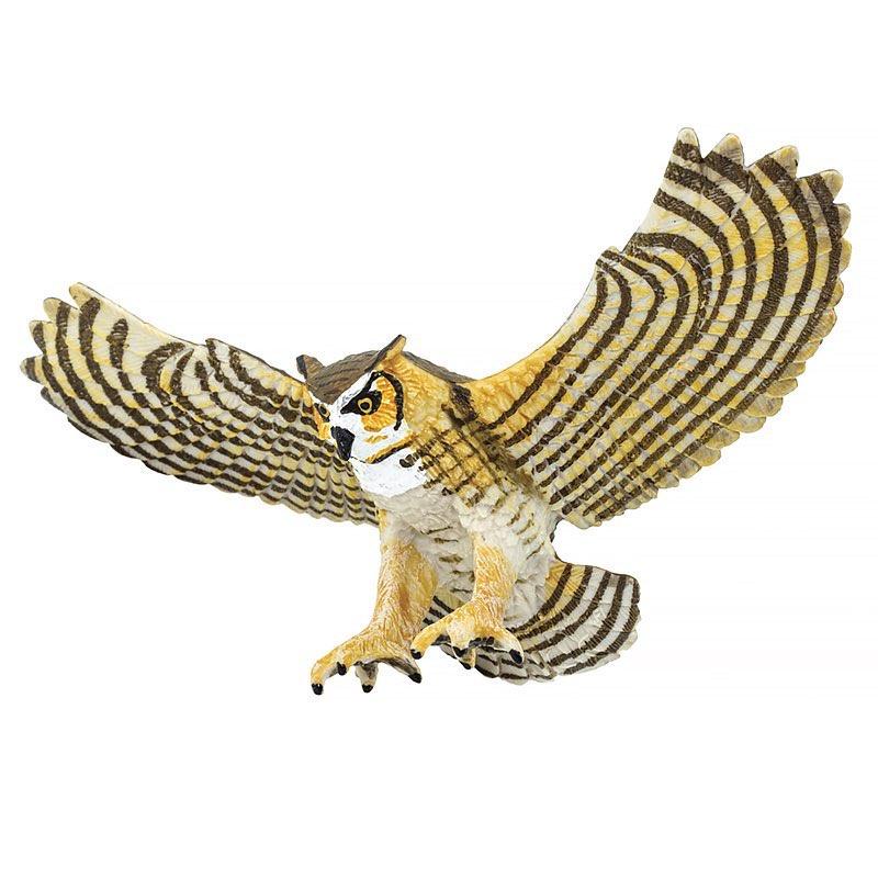 Фигурка птицы Safari Ltd Большая рогатая сова стоимость