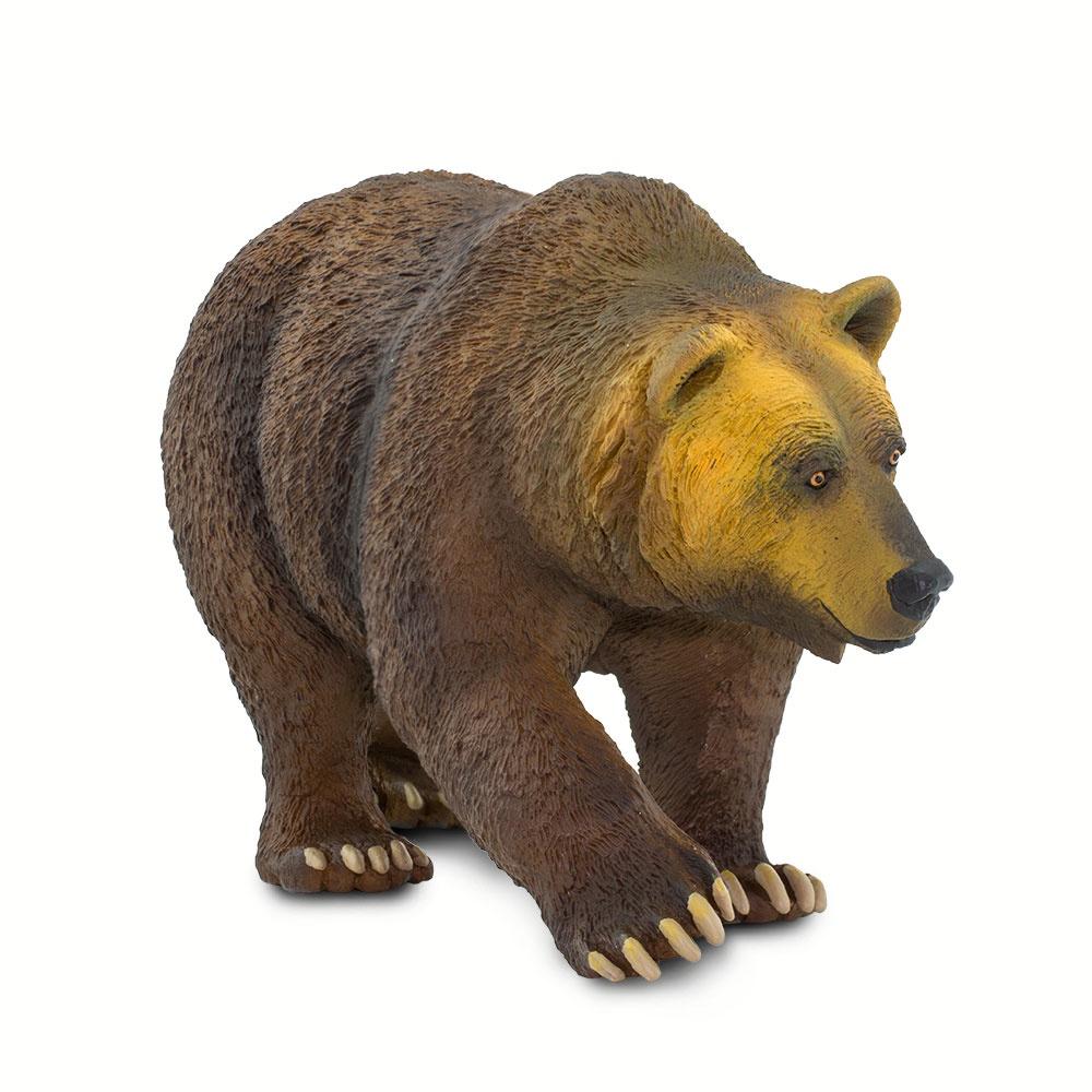 Фигурка бурового медведя Safari Ltd Гризли XL